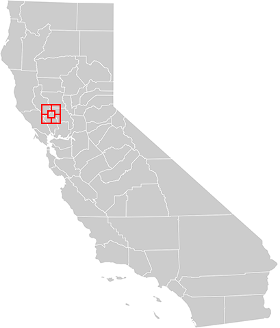 California Map with Butte County Fire Area